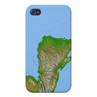 Topographic view of Central America iPhone 4 Case