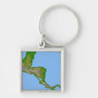 Topographic view of Central America Keychain