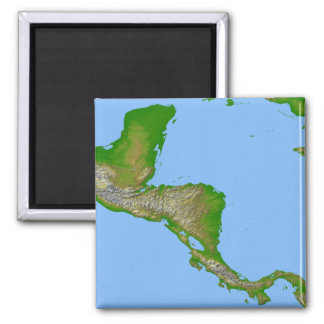 Topographic view of Central America Magnet