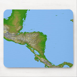 Topographic view of Central America Mouse Pad