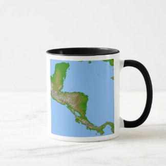 Topographic view of Central America Mug