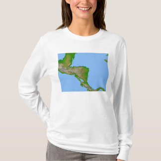 Topographic view of Central America T-Shirt