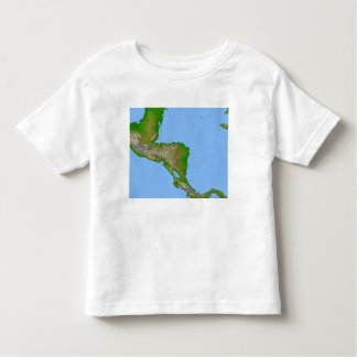 Topographic view of Central America Toddler T-shirt