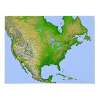 Topographic view of North America Photo Print