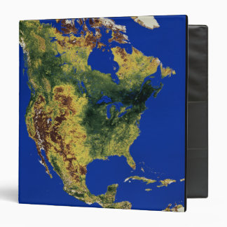 Topographic View of North and Central America Binder