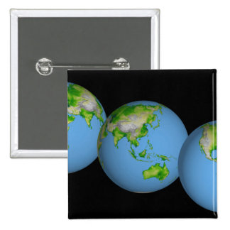 Topographic views of the world button