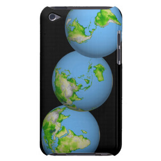 Topographic views of the world iPod touch Case-Mate case