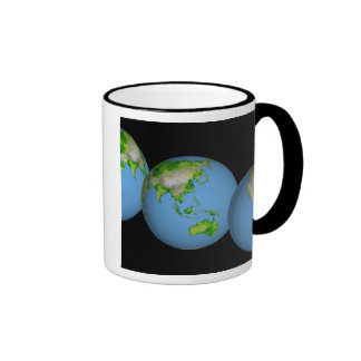 Topographic views of the world ringer mug