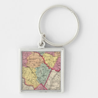 Topographical atlas of Maryland counties 2 Keychain