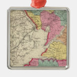 Topographical atlas of Maryland counties 2 Metal Ornament