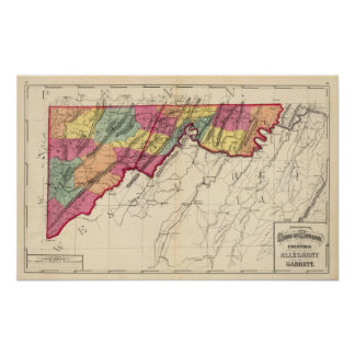 Topographical atlas of Maryland counties 2 Poster