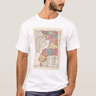 Topographical atlas of Maryland counties 2 T-Shirt