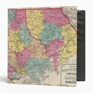 Topographical atlas of Maryland counties 3 Binder
