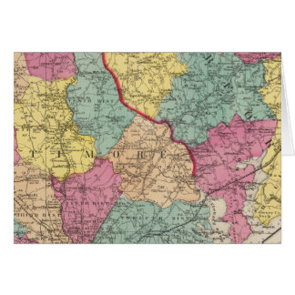 Topographical atlas of Maryland counties 3 Card