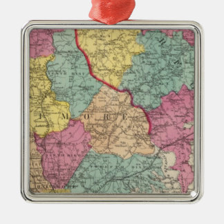Topographical atlas of Maryland counties 3 Metal Ornament