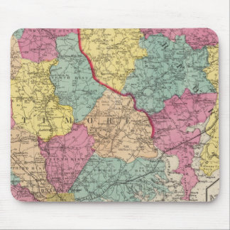 Topographical atlas of Maryland counties 3 Mouse Pad