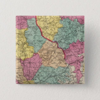 Topographical atlas of Maryland counties 3 Pinback Button