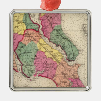 Topographical atlas of Maryland counties 6 Metal Ornament