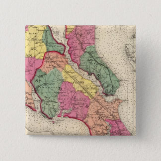 Topographical atlas of Maryland counties 6 Pinback Button