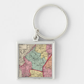 Topographical atlas of Maryland counties Keychain