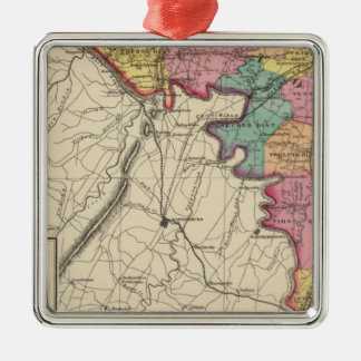 Topographical atlas of Maryland County Metal Ornament