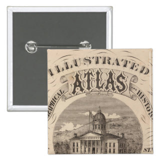 Topographical atlas pinback button