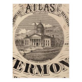 Topographical atlas postcard