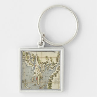Topographical Chart of the Bay of Narraganset Keychain