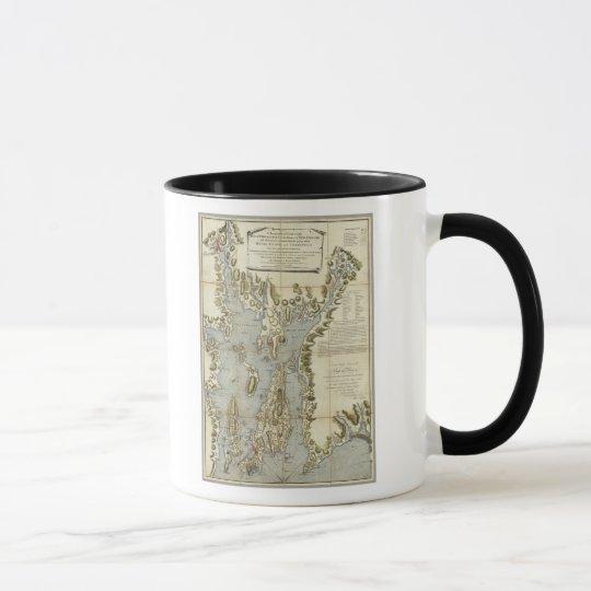Topographical Chart of the Bay of Narraganset Mug