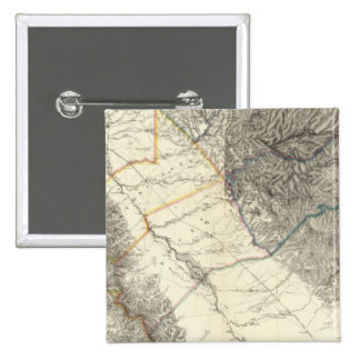 Topographical Map of Central California Button