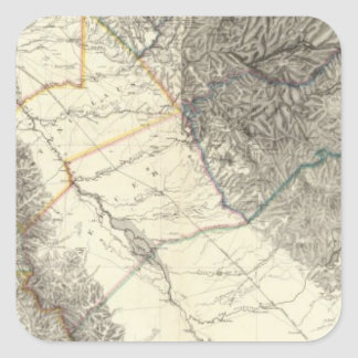 Topographical Map of Central California Square Sticker