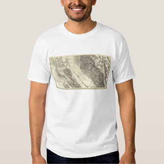 Topographical Map of Central California T-shirts
