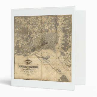 Topographical Map of District of Columbia (1861) 3 Ring Binder