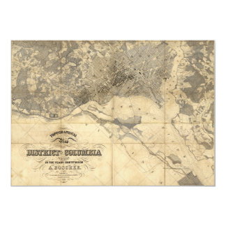 Topographical Map of District of Columbia (1861) Card