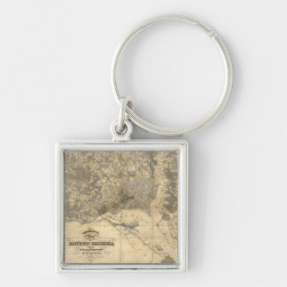 Topographical Map of District of Columbia (1861) Keychain