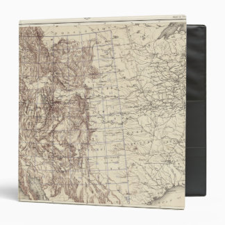 Topographical Map of Mississippi River 3 Ring Binder