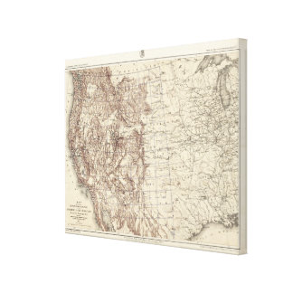Topographical Map of Mississippi River Canvas Print