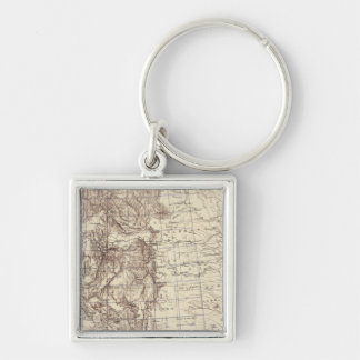 Topographical Map of Mississippi River Keychain