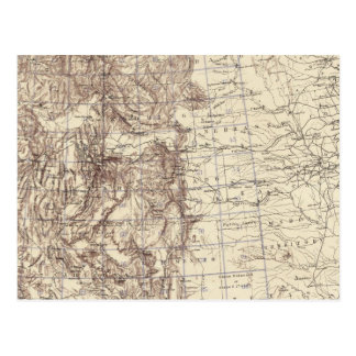 Topographical Map of Mississippi River Postcard