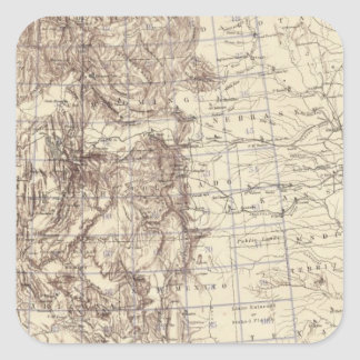 Topographical Map of Mississippi River Square Sticker