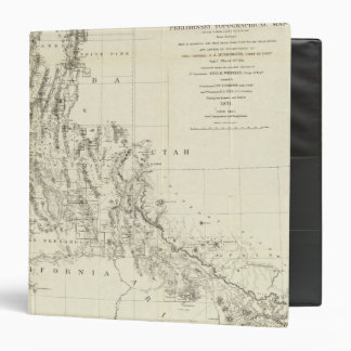 Topographical Map of Nevada and Arizona 3 Ring Binder