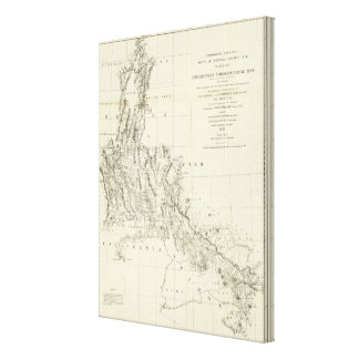Topographical Map of Nevada and Arizona Canvas Print