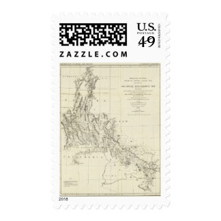 Topographical Map of Nevada and Arizona Postage Stamps