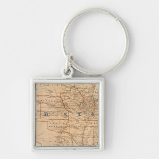 Topographical Map of the United States Keychain