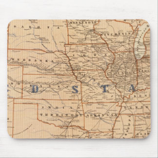 Topographical Map of the United States Mouse Pad