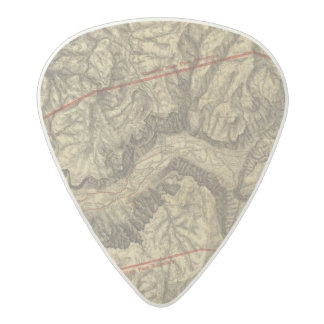 Topographical Map of The Yosemite Valley Acetal Guitar Pick