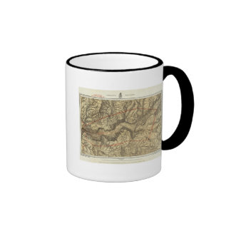Topographical Map of The Yosemite Valley Coffee Mug