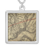 Topographical Map of The Yosemite Valley Custom Jewelry