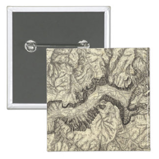 Topographical Map of The Yosemite Valley Pinback Button