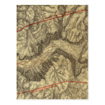 Topographical Map of The Yosemite Valley Postcards